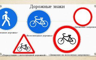 Знак «велосипедная дорожка»: как выглядит на асфальте, если запрещена, раскраска, конец, дорожный знак пересечение с велодорожкой