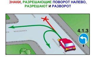 Знак «поворот налево»: какие запрещают, разрешают, поворот при знаке «прямо», пдд и дорожный знак, можно ли развернуться на главной