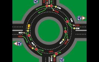 Проезд перекрестков с круговым движением: правила, порядок по пдд, поворотники, проезд регулируемых перекрестков