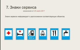 Дорожные знаки сервиса: какие есть в правилах дорожного движения