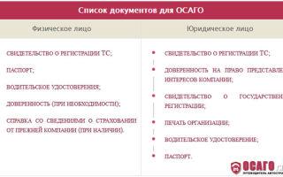 Документы для оформления осаго: какие нужны для электронного, для выплаты страхового случая