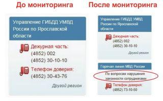 Служба доверия гибдд: как позвонить, номер телефона