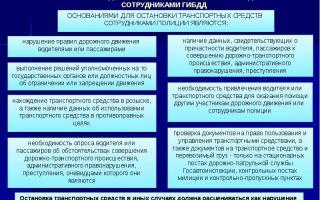 Основания для остановки транспортного средства: главные причины для остановки тс сотрудниками полиции (гибдд, дпс), порядок, приказ 185