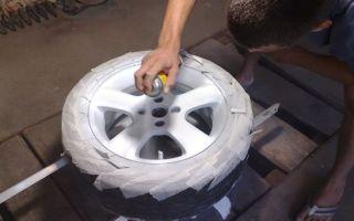 Как покрасить диски своими руками, в какой цвет покрасить литые, штампованные, баллончиком, порошковой краской для авто в домашних условиях, не снимая резину
