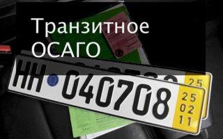 Транзитная страховка осаго: как оформляется временная, на 20 дней, стоимость