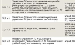 Штраф за езду без категории: какой предусмотрен без нужной категории б, д, е, с прицепом