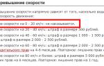 Лишение прав за превышение скорости: за какое превышение наказывают водителей в россии