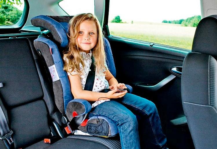 Какой штраф если ребенок сидит на переднем сидении